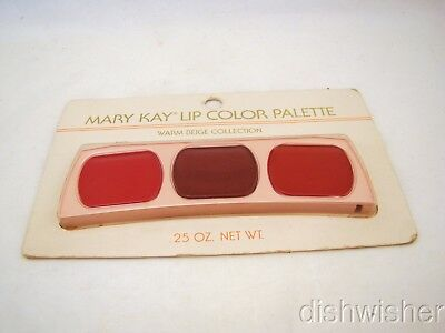 Mary Kay 0489 WARM BEIGE COLLECTION Lip Color Palette Red/Ginger/Scarlet NEW