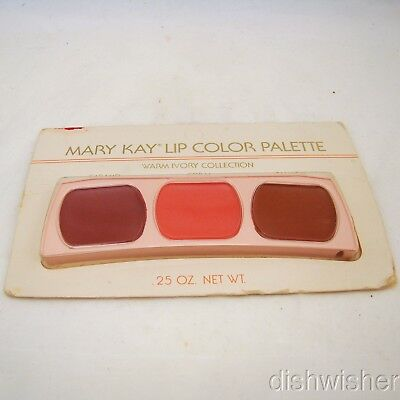 Mary Kay 0487 WARM IVORY COLLECTION Lip Color Palette Caramel/Coral/Salmon NEW