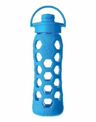 Lifefactory Lifefactory 651ml Glass Bottle with Flip Cap and Silicone Sleeve, Oc