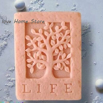 DIY Silicone mould life tree Chocolate Cake Cookie Cupcake Soap Candy Molds