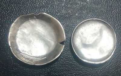 Pakistan Re1 Lot Of Two Major Error Coins Cup Shape One Side Blank Very Aunc