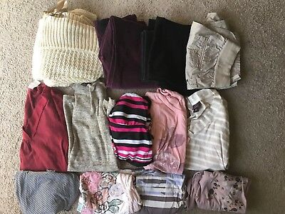 Mixed Lot of 13 Maternity Clothing Size Small 4  Pants Tops motherhood oh baby