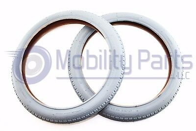 Pair of 16 x 1.75 Pneumatic Wheelchair Tires - Standard Tread - Cheng Shin