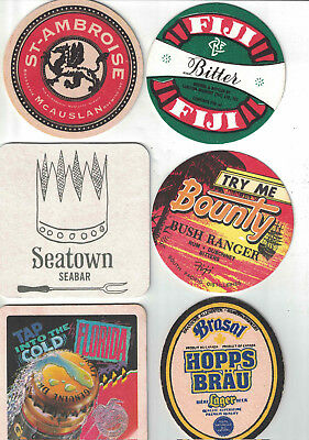 Assortment of Beer Coasters from North America & Fiji.
