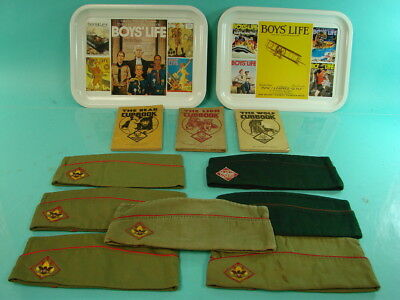 Lot of 12 Boy & Cub Scouts Of America Memorabilia Collection Trays Hats Books