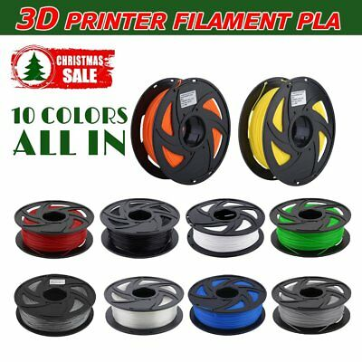 3D Printer Filament 1.75mm PLA 1KG/Roll Colours Engineer Drawing Art Aussie OZ