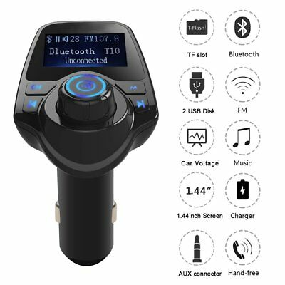 Car Bluetooth FM Transmitter Wireless Radio Adapter USB Charger MP3 FGX Player P