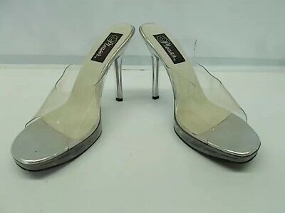 Pleaser Clear Perspex Stripper Pole Dancer Heels Size US 10 / AU 9