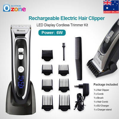 SURKER Men's Rechargeable Electric Hair Clipper LED Display Cordless Trimmer Kit