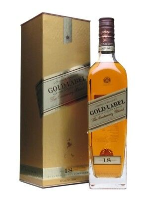 Johnnie Walker Gold Label 18 Years  - Rare Collectible Blended scotch - New 0.7L
