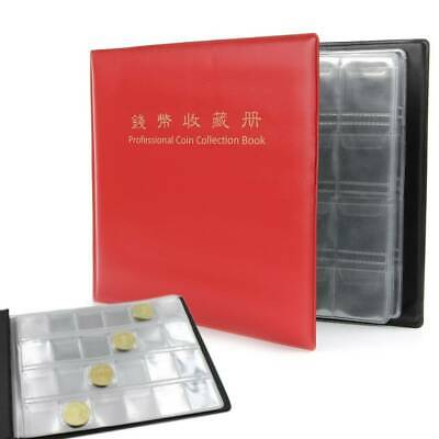 240 Collection Storage Penny Pockets Album Money Book Collecting Coin Holders