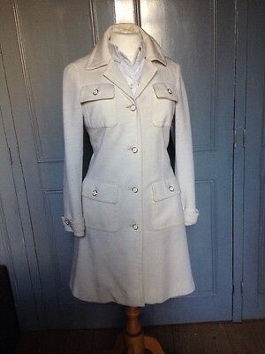 Vintage 70's French designer J.Tiktiner Coat Dress UK10/12
