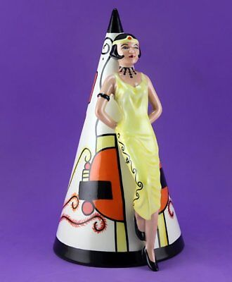 Lorna Bailey GIANT ART DECO LADY SUGAR SHAKER, LIMITED EDITION 46/350, NOV 99