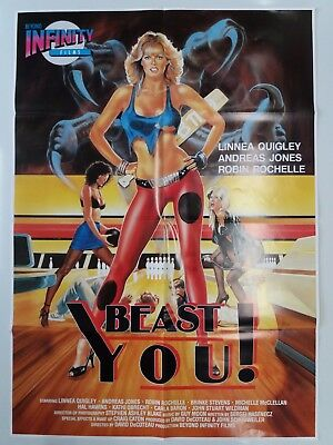 BEAST YOU ! Linnea Quigley - Andreas Jones orig. A1 Filmplakat