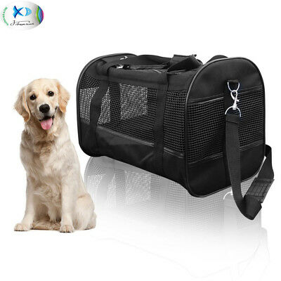 Pet Carrier Dog Cat Travel Tote Foldable Breathable with Removable Fleece Bottom
