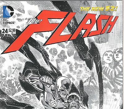 The Flash #24  Flash Variant Sketch Cover  The New 52 Nm B&b
