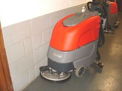 "HAKO B30 floor scrubber drier (17"") battery operated."