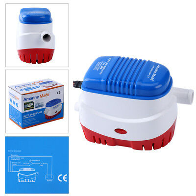 12V 750Gph Automatic Submersible Boat Bilge Water Pump With Float Switch-Am