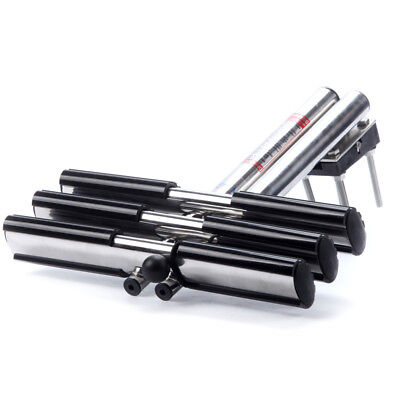 Dual Vertical Telescoping Tube 3 Steps Stainless Sport Diver Ladder With Mount