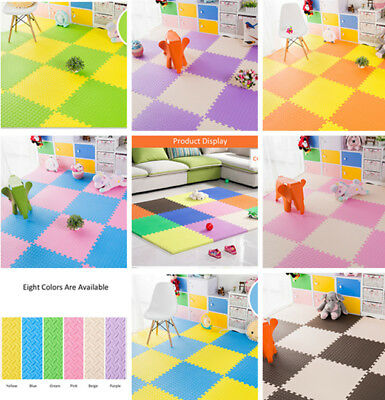 Eva Foam Floor Play Mat Puzzle Interlocking Exercise Kids Waterproof Gym Carpets
