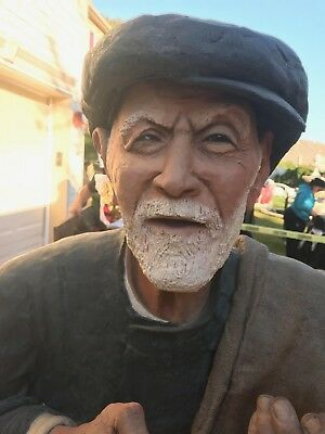 Artist Susan J Geissler Sculpture The potato man life size.