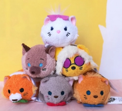 5 Styles Disney TSUM TSUM The Aristocats Marie Cat Mini Plush Toys With Chain