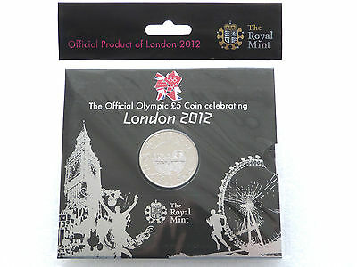 2012 Royal Mint London Olympic Games BU £5 Five Pound Coin Pack Sealed