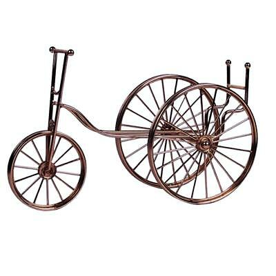 Bike Bronze Metal Single Bottle Tabletop Wine Holder Display Rack Gift