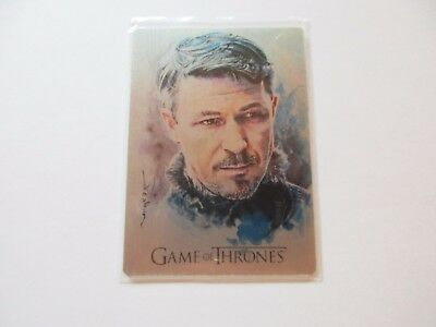 Game of Thrones Valyrian Steel Desbois ArtiFex Metal Card Peter Baelish AF3