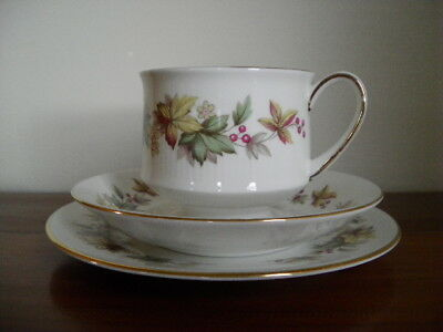Beautiful Royal Standard Bone China Cup, Saucer and Side Plate