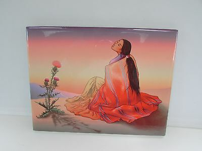 "Vintage RC Gorman Art Tile  ""NAVAJO DAWN "" Signed-Dated -Limited Edition"