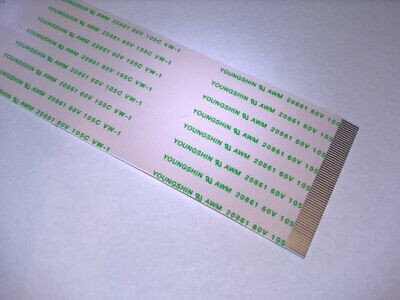 FFC 60pin flat ribbon cable 0.5 pitch 280mm long 60V 105C AWM20861