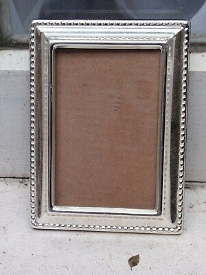 "Vintage Small Silver Plated Front Rectangle Photo Frame 3"" Wide X 3 3/4"" Down"