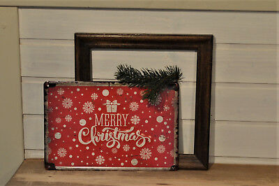 3D-Weihnachtsschild, MERRY CHRISTMAS, Metallschild, NEU in Retro-Look, Schild