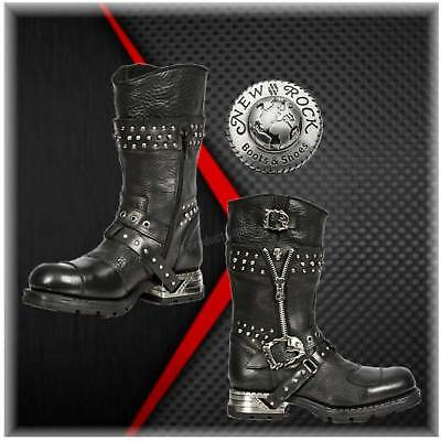 MR022 New Rock Engineer Boots Stiefel Gothic Streetfighter Reissverschluss Leder
