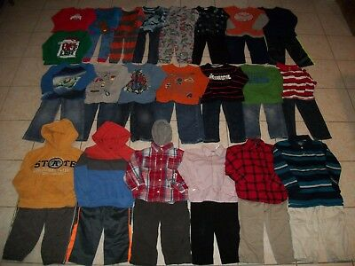 Boys Clothes/Outfits/Sleepwear Lot of 42 Size 4T-4/5T Winter