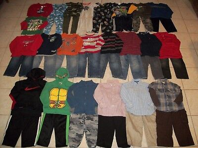 Boys Clothes/Outfits/Sleepwears Lot of 44 Size 4T-4/5T Winter