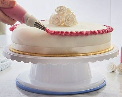 Rotating Cake Turntable Icing Decorating Revolving Kitchen Stand Display 28cm