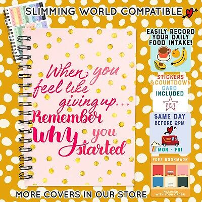 FOOD Diary Diet 3mth BOOK SLIMMING WORLD COMPATIBLE  WEIGHT LOSS R/WHY 41 - 2018
