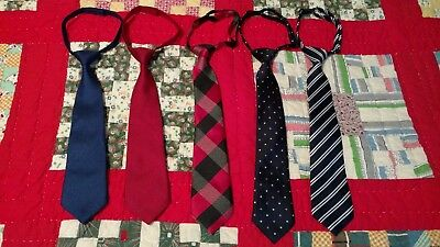 Lot of 5 Children's Place & Gymboree Boy's Dress Neck Ties 2-7 Yrs Toddler Youth