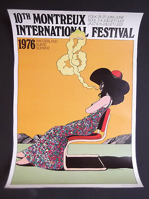 Original Plakat 10th Montreux International Festival 1976 von Milton Glaser