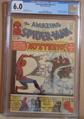 Amazing Spiderman #13 First Appearance of Mysterio CGC 6.0