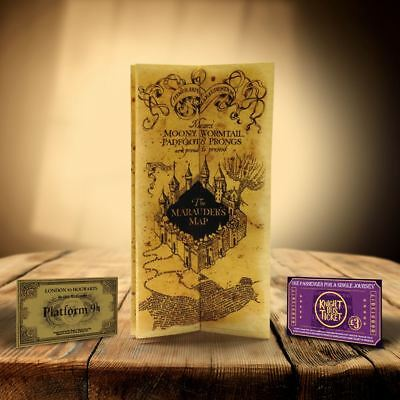 Hogwarts Marauders Map Harry Potter Gift For Witch Or Wizard Christmas Xmas I