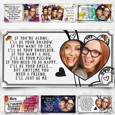 Personalised Photo Plaque For Best Friend Christmas Gift Bestie BFF Wooden I