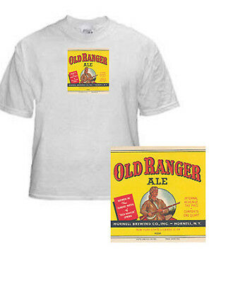 Hornell Brewing Old Ranger Beer Label T Shirt Hornell Ny Small - Xxxlarge (F)