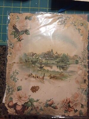 Antique Over sized Print  Late 1800's
