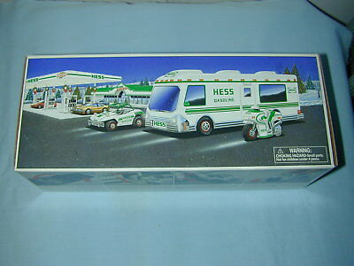 1998 Hess Toy Recreation Van With Dune Buggy And Motorcycle  Mint In Box
