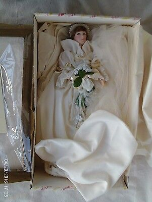 "Nib -Effanbee -Diana Princess Of Whales Wedding Bride 18"" Doll & Certificate"