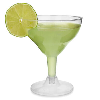 Disposable Margarita Glasses 155ml - Set of 144 - Clear Plastic Cocktail Glass