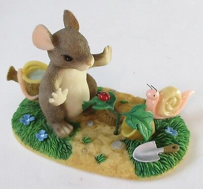 Charming Tails Fitz & Floyd A GROWING FRIENDSHIP Mouse Figurine